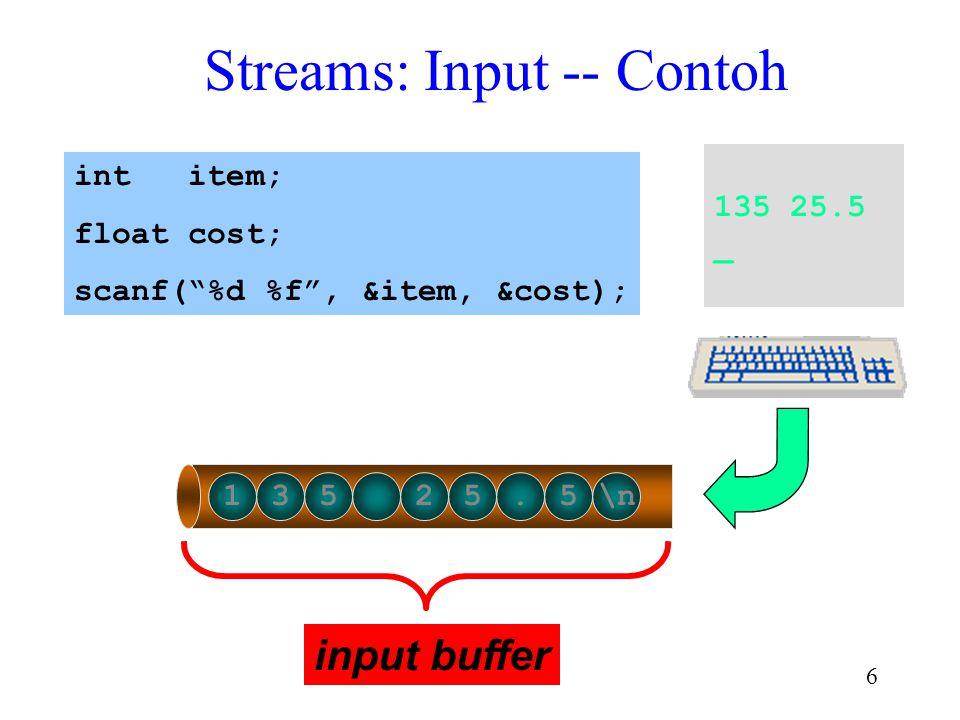 Streams: Input -- Contoh