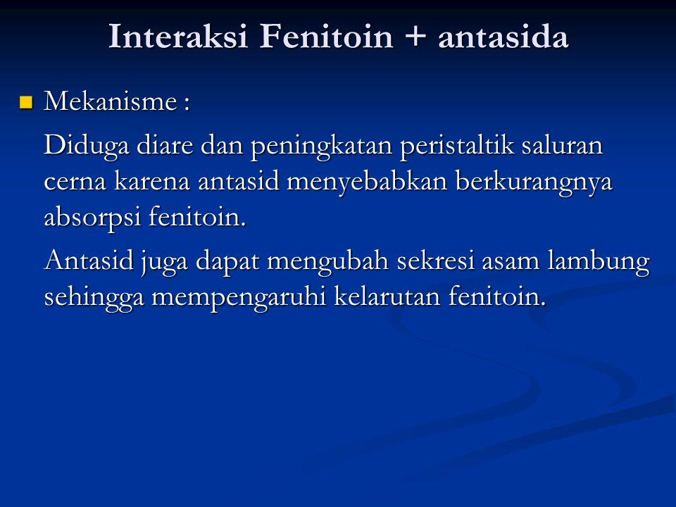 Interaksi Fenitoin + antasida