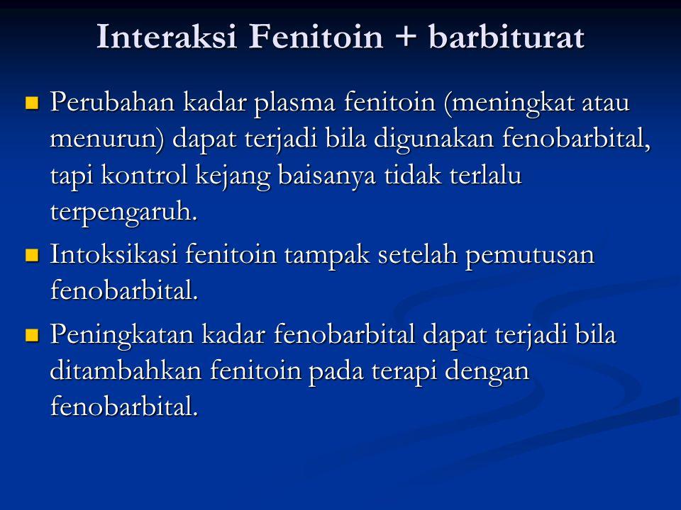 Interaksi Fenitoin + barbiturat