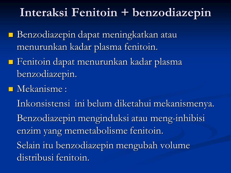 Interaksi Fenitoin + benzodiazepin