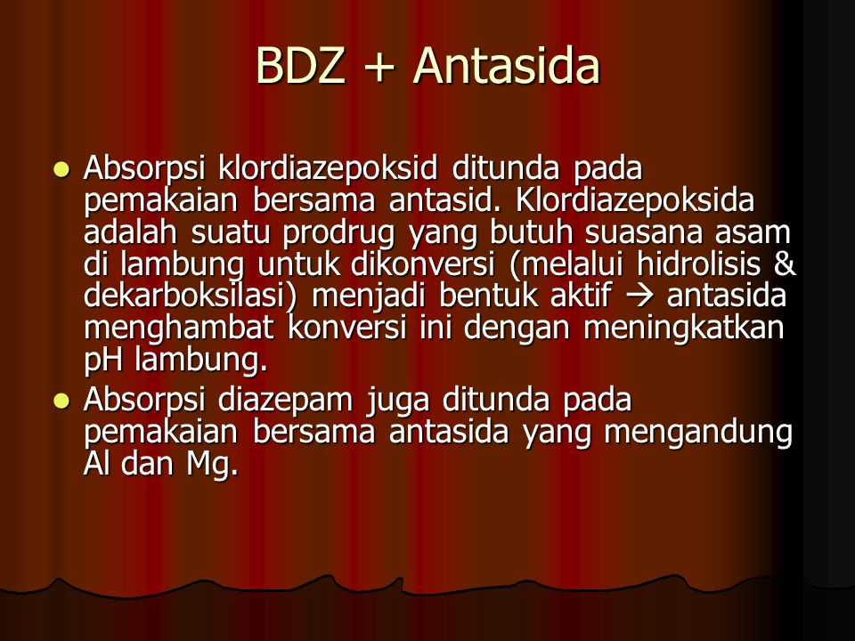 BDZ + Antasida