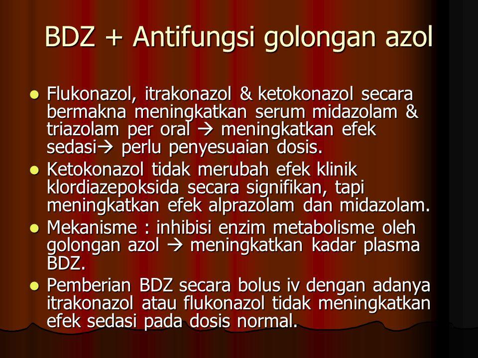 BDZ + Antifungsi golongan azol