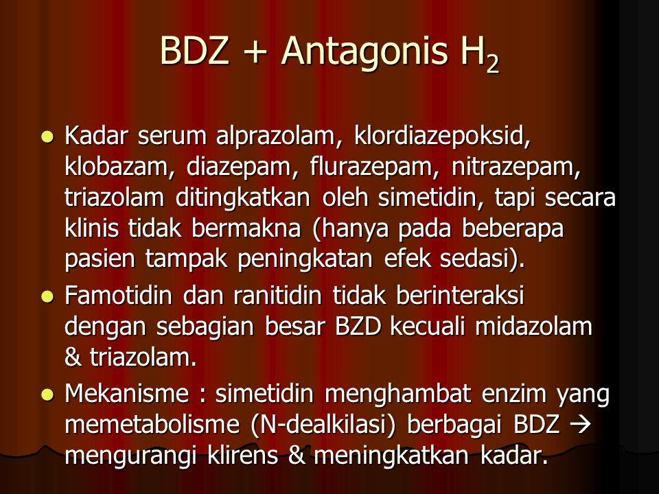 BDZ + Antagonis H2