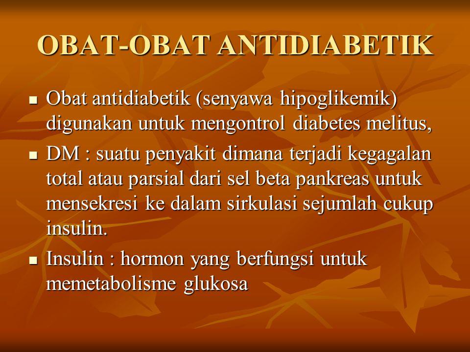 OBAT-OBAT ANTIDIABETIK