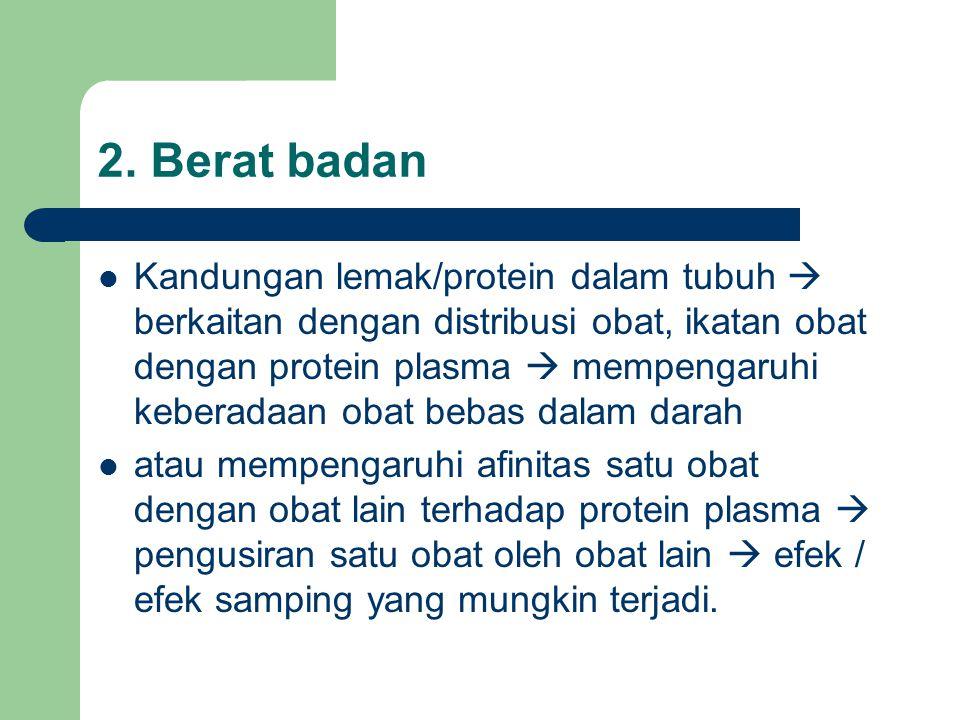2. Berat badan
