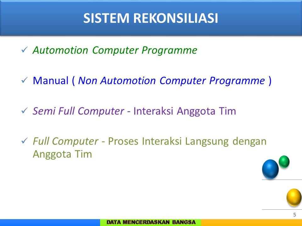 SISTEM REKONSILIASI Automotion Computer Programme