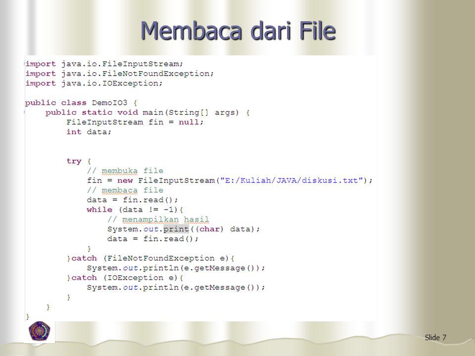 Membaca dari File