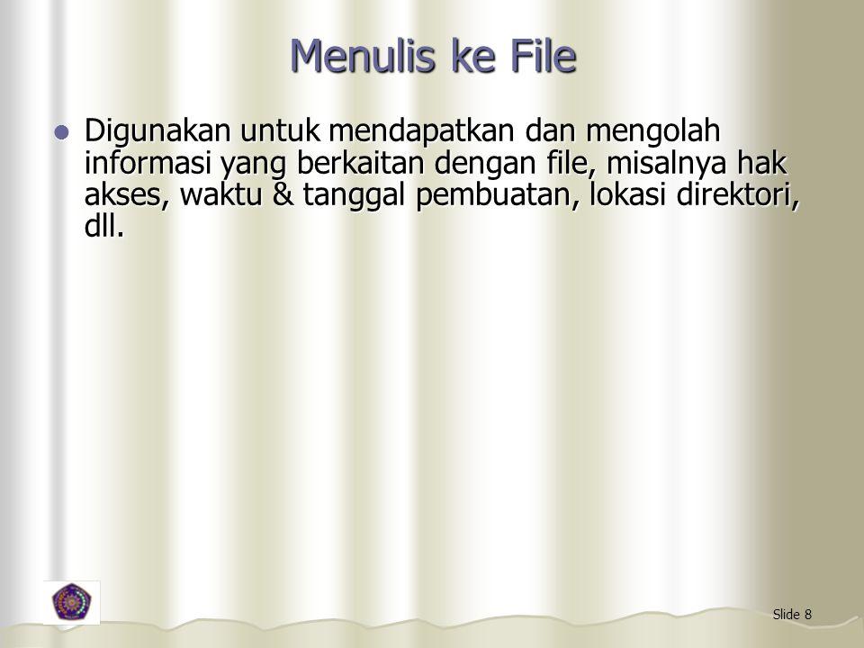 Menulis ke File