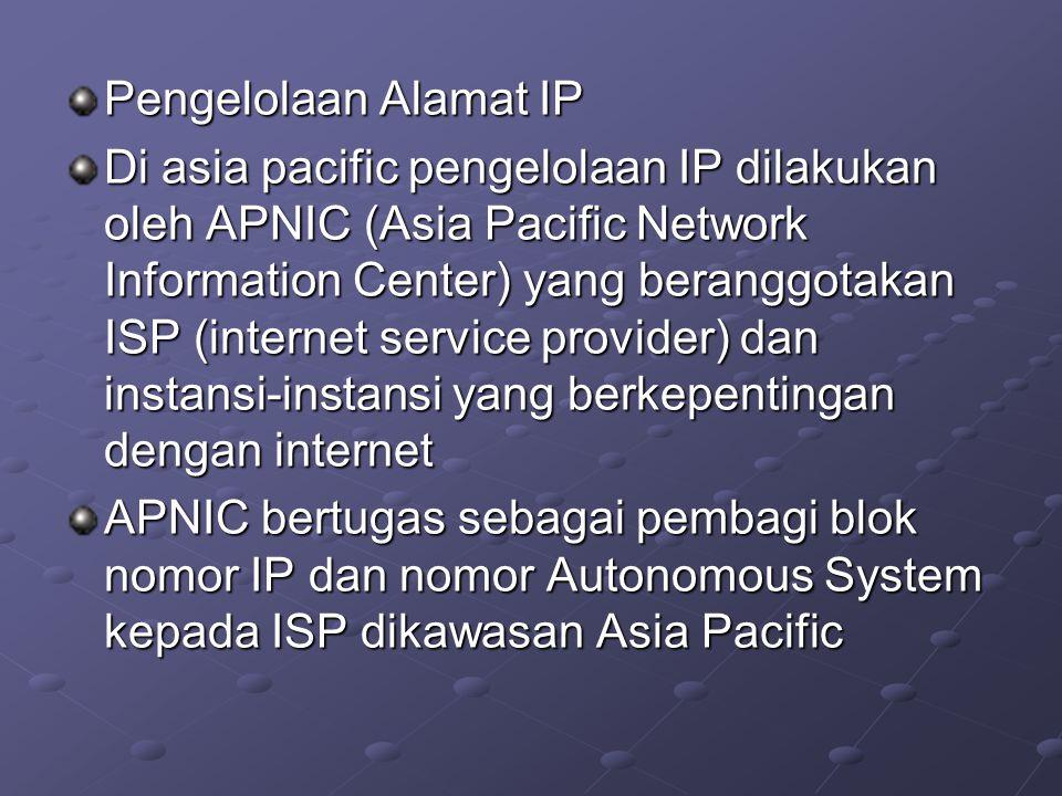 Pengelolaan Alamat IP