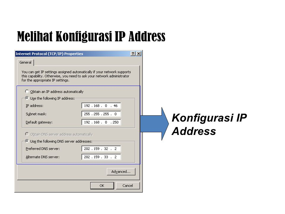 Melihat Konfigurasi IP Address