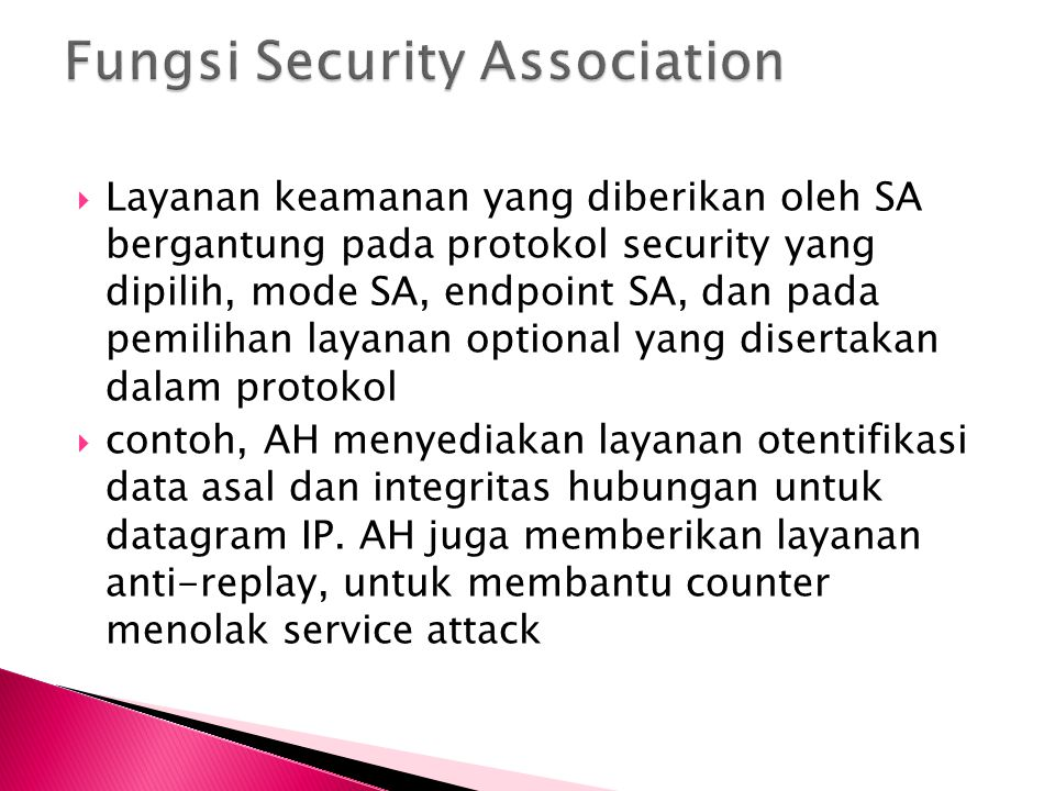 Fungsi Security Association