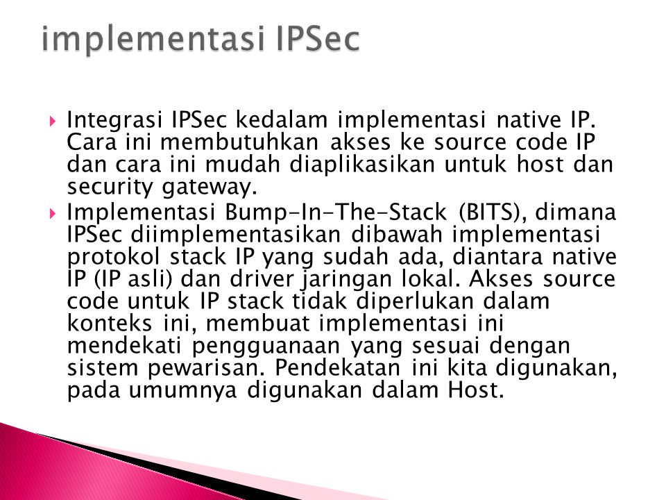 implementasi IPSec