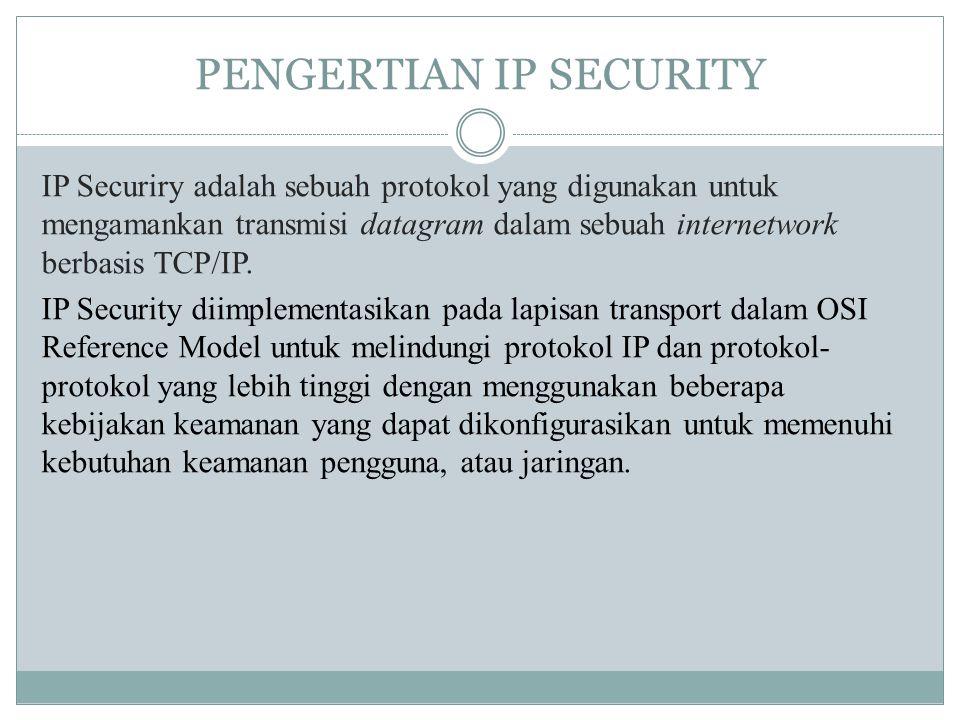 PENGERTIAN IP SECURITY