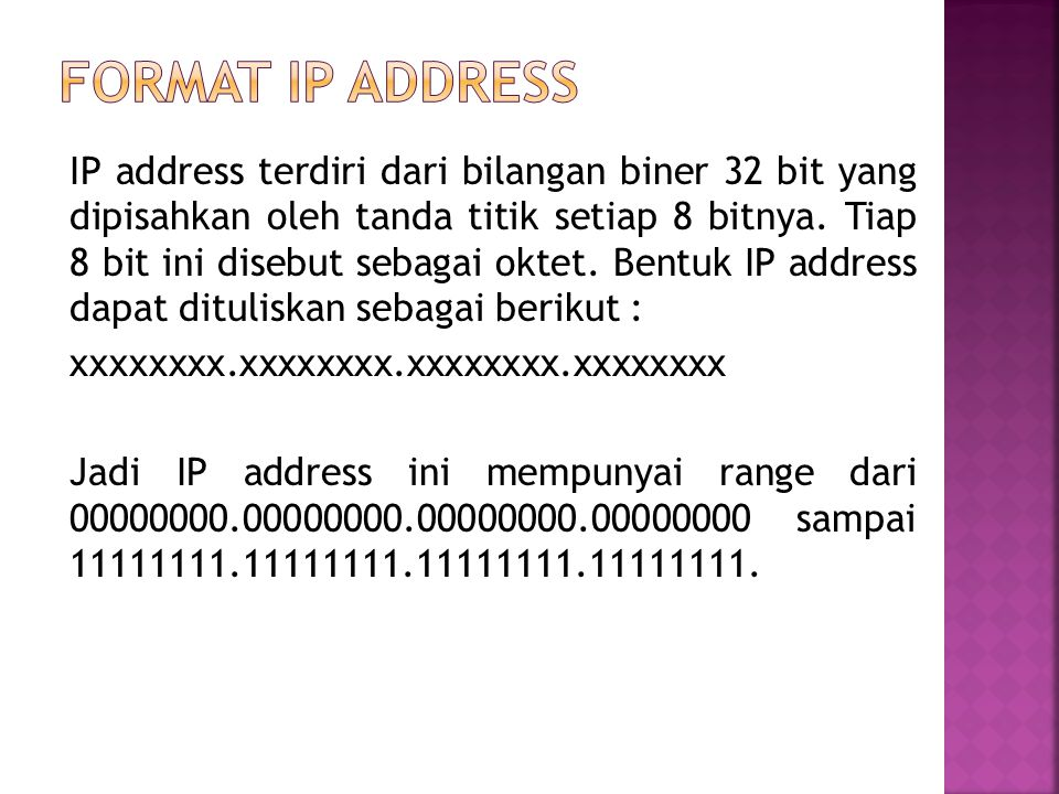 Format IP Address