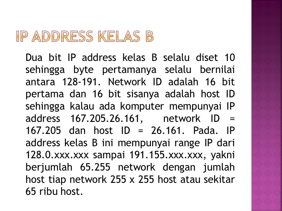 IP address kelas B