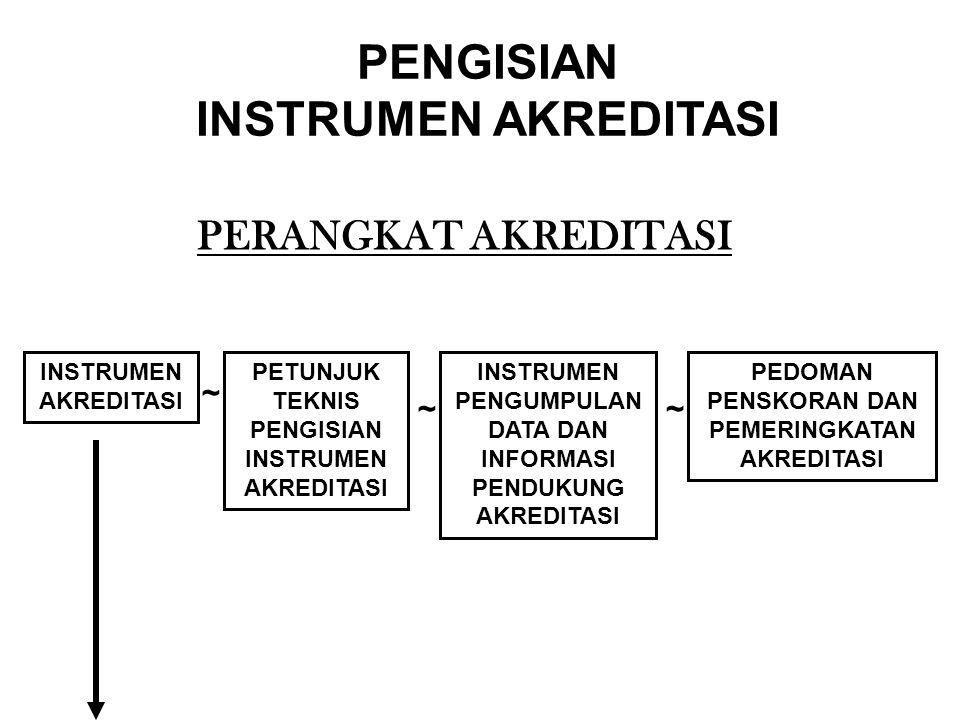 PENGISIAN INSTRUMEN AKREDITASI