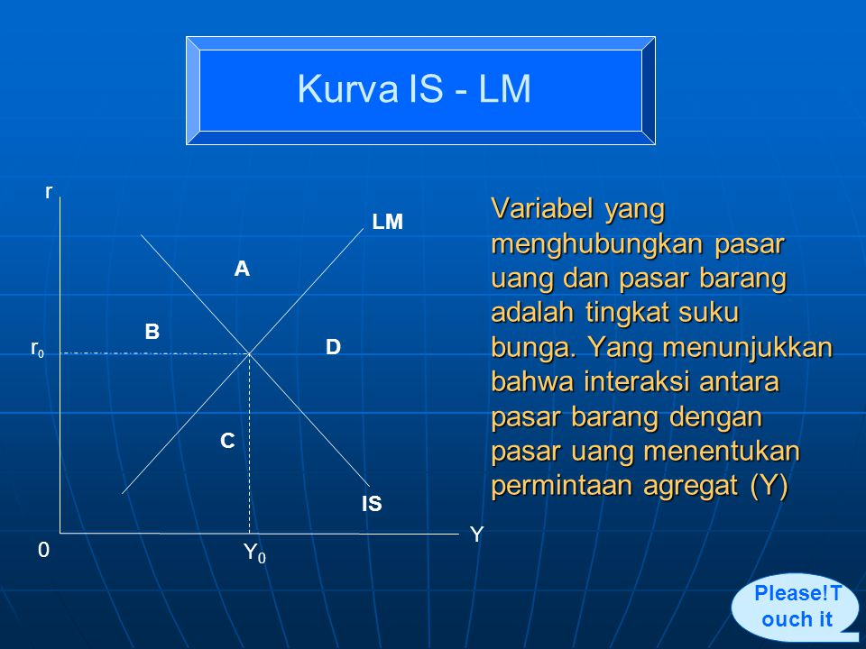 Kurva IS - LM r. r0. A. B. C. D. LM. IS. Y0. Y.