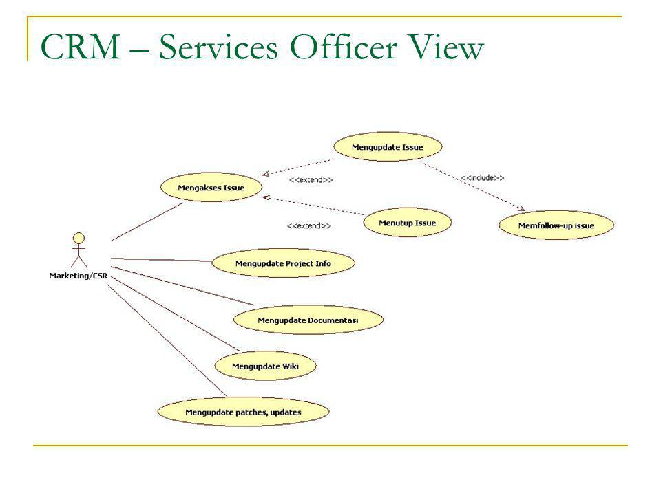CRM – Services Officer View