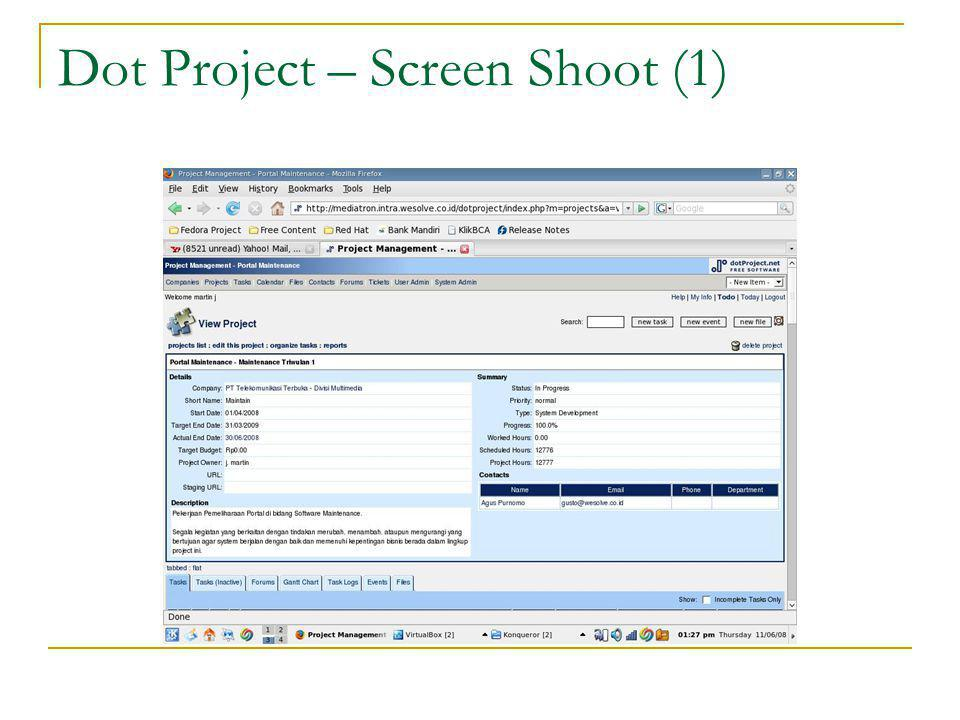 Dot Project – Screen Shoot (1)