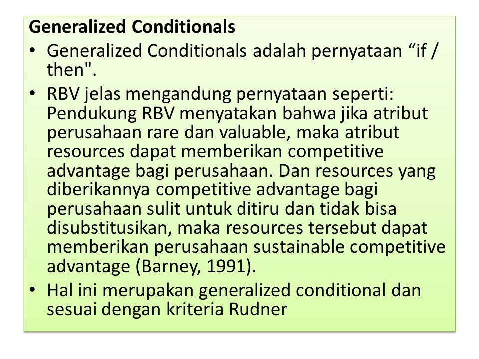 Generalized Conditionals