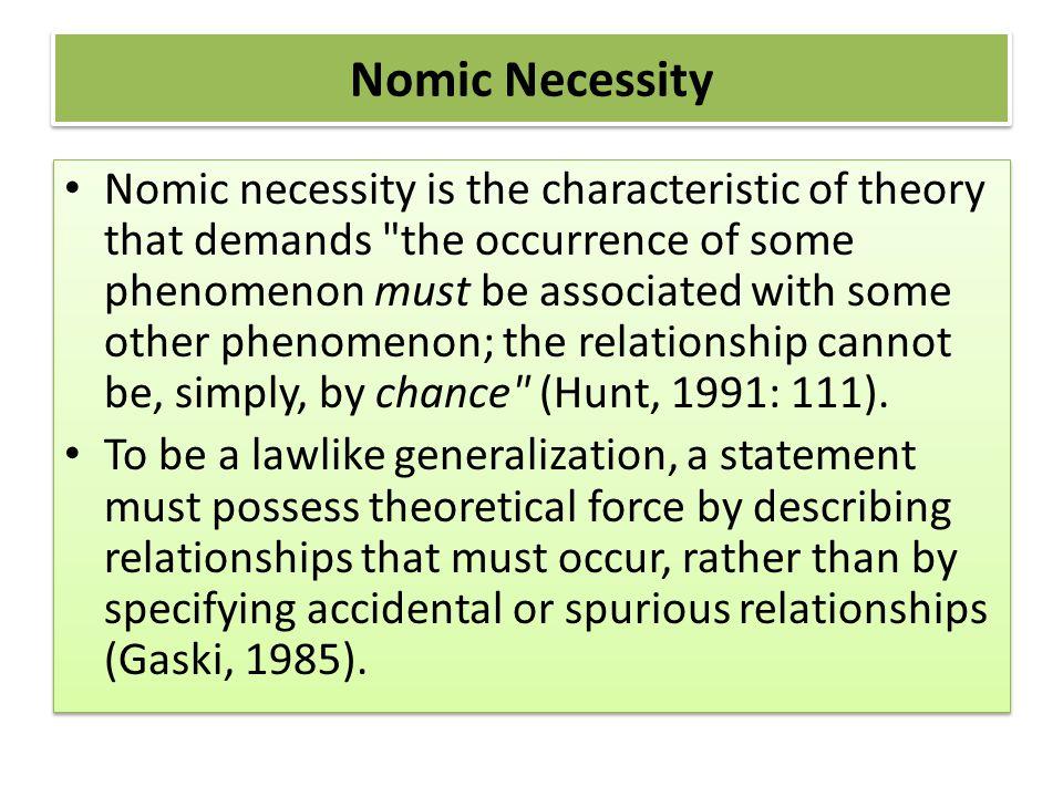 Nomic Necessity