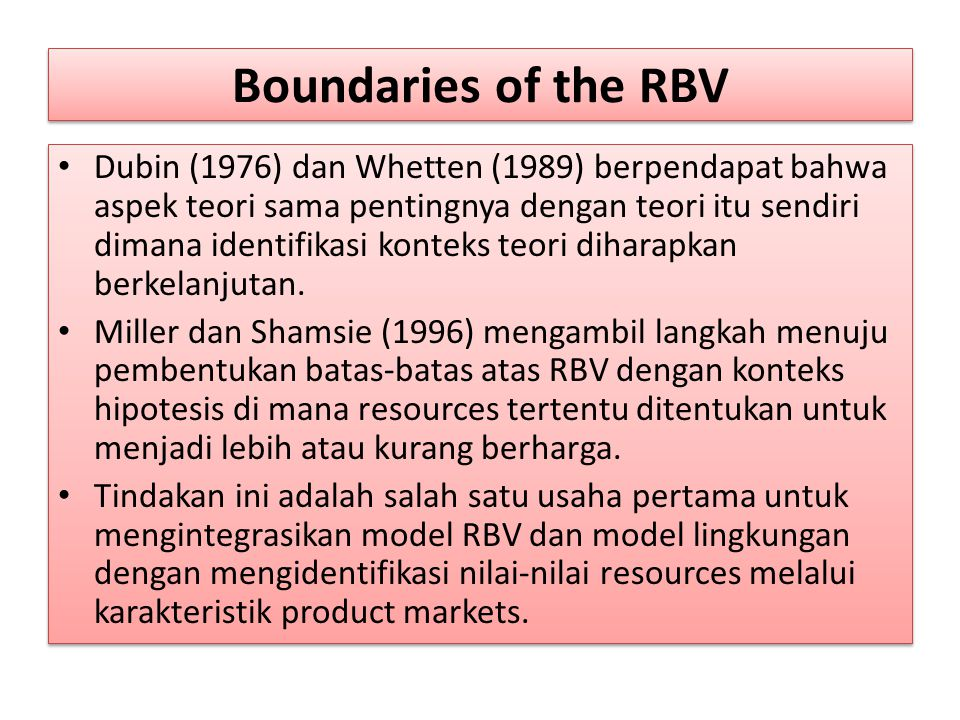 Boundaries of the RBV