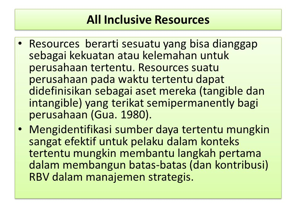 All Inclusive Resources