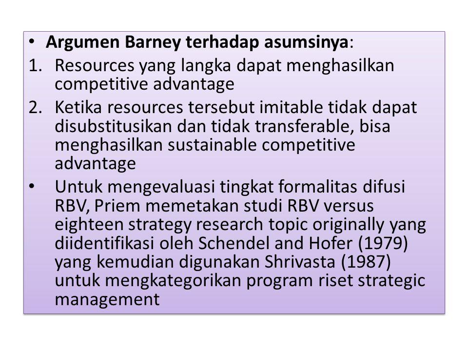 Argumen Barney terhadap asumsinya: