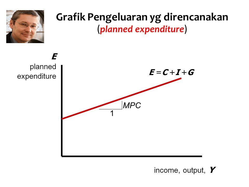 Grafik Pengeluaran yg direncanakan (planned expenditure)