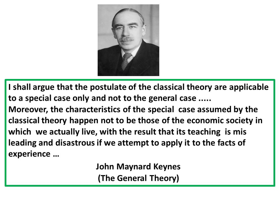 I shall argue that the postulate of the classical theory are applicable to a special case only and not to the general case .....