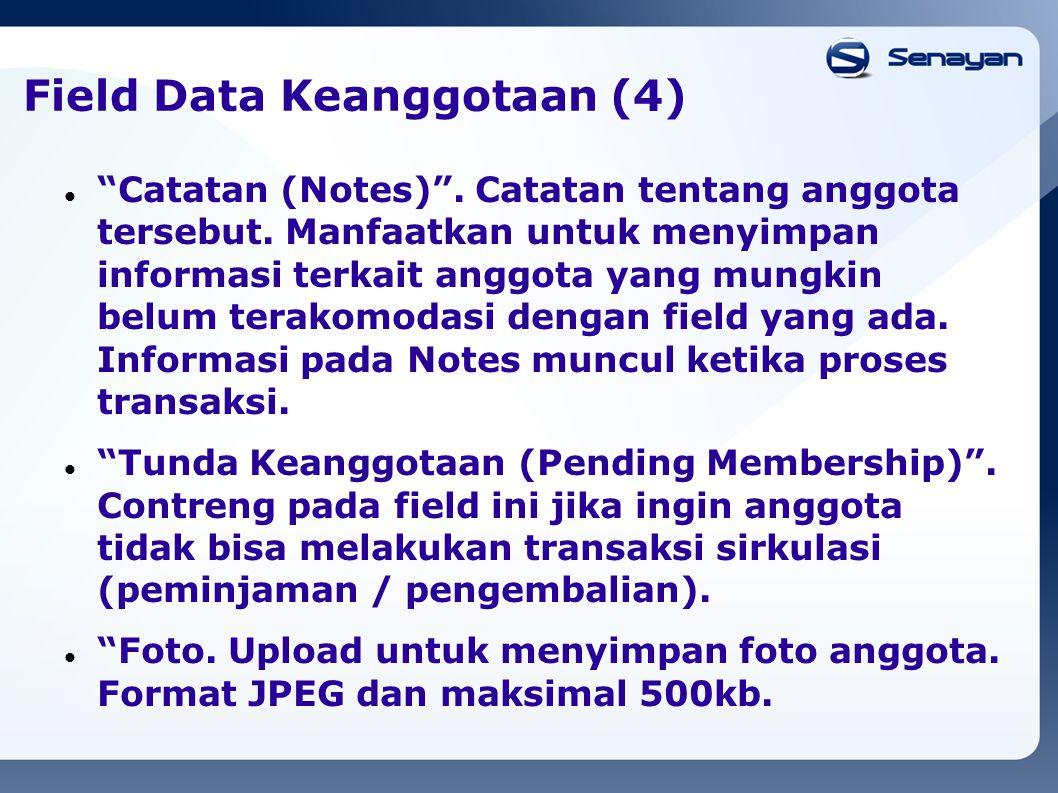 Field Data Keanggotaan (4)
