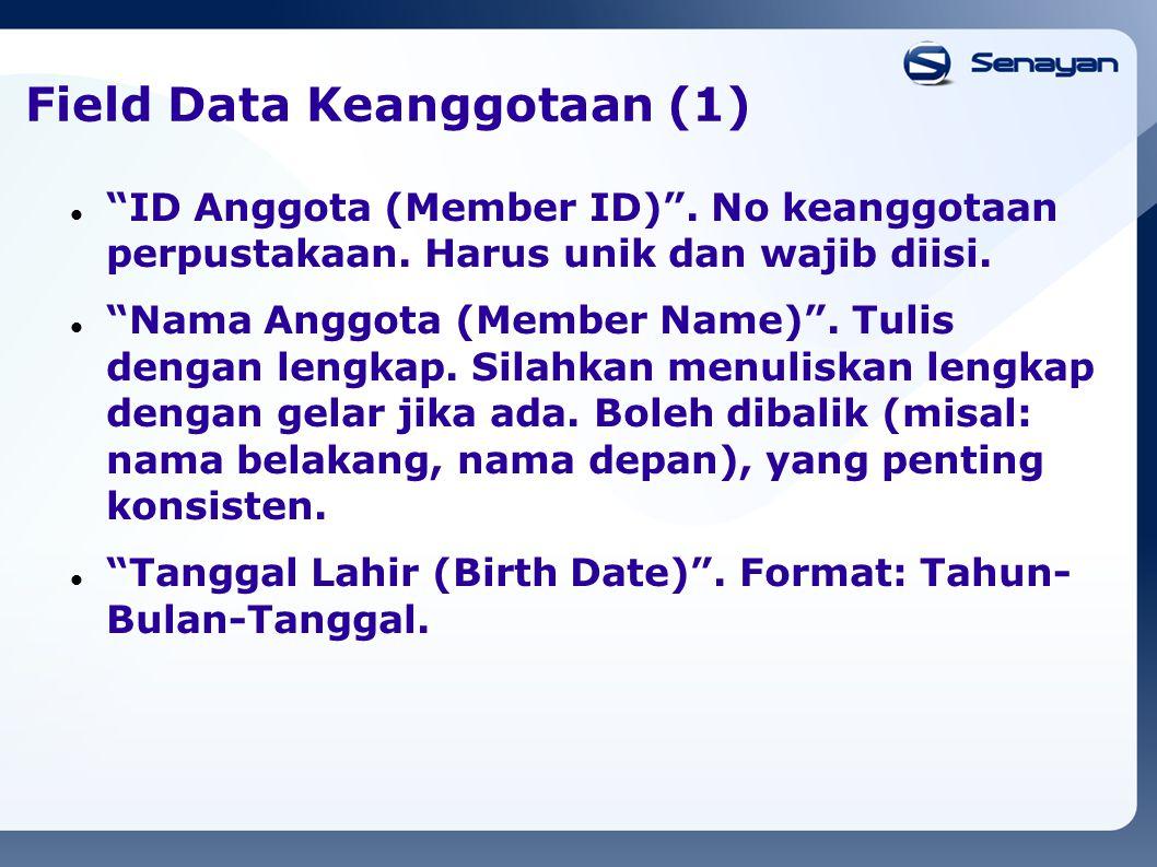 Field Data Keanggotaan (1)