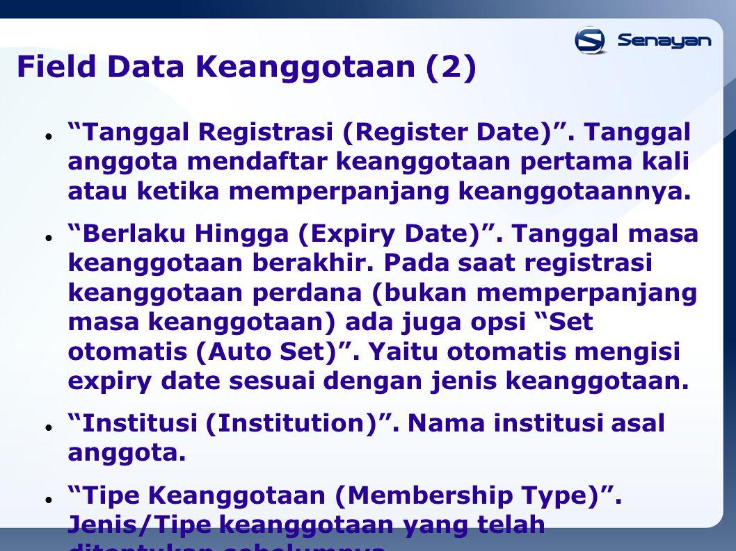 Field Data Keanggotaan (2)