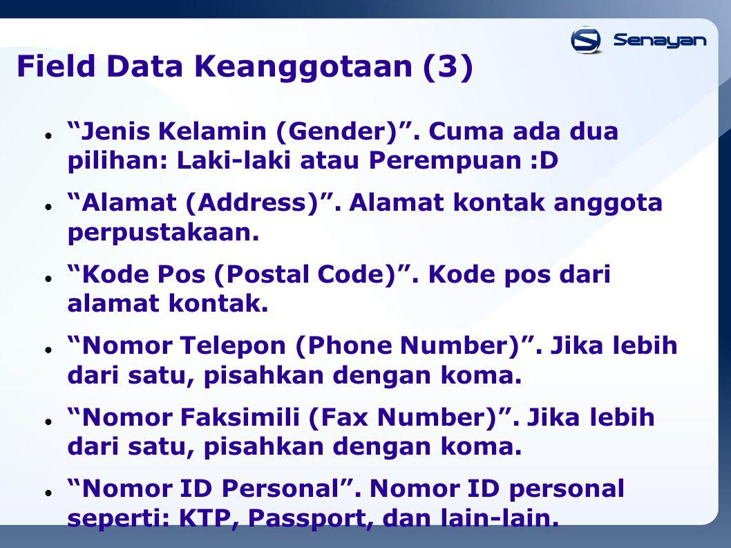 Field Data Keanggotaan (3)
