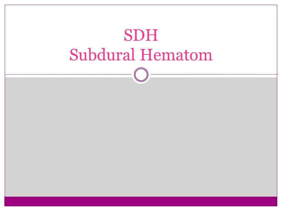 SDH Subdural Hematom