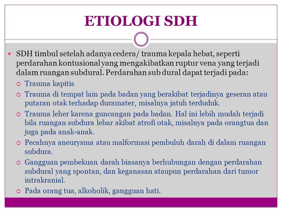 ETIOLOGI SDH