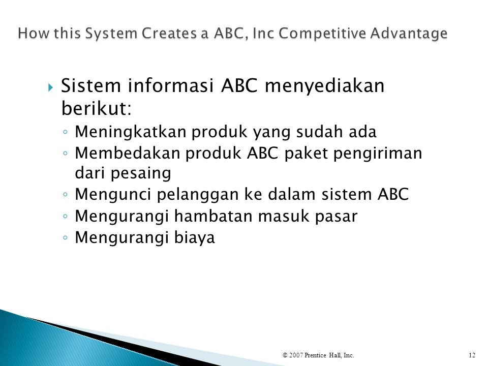 How this System Creates a ABC, Inc Competitive Advantage