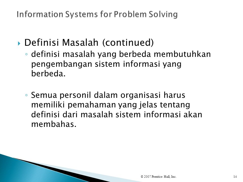 Information Systems for Problem Solving
