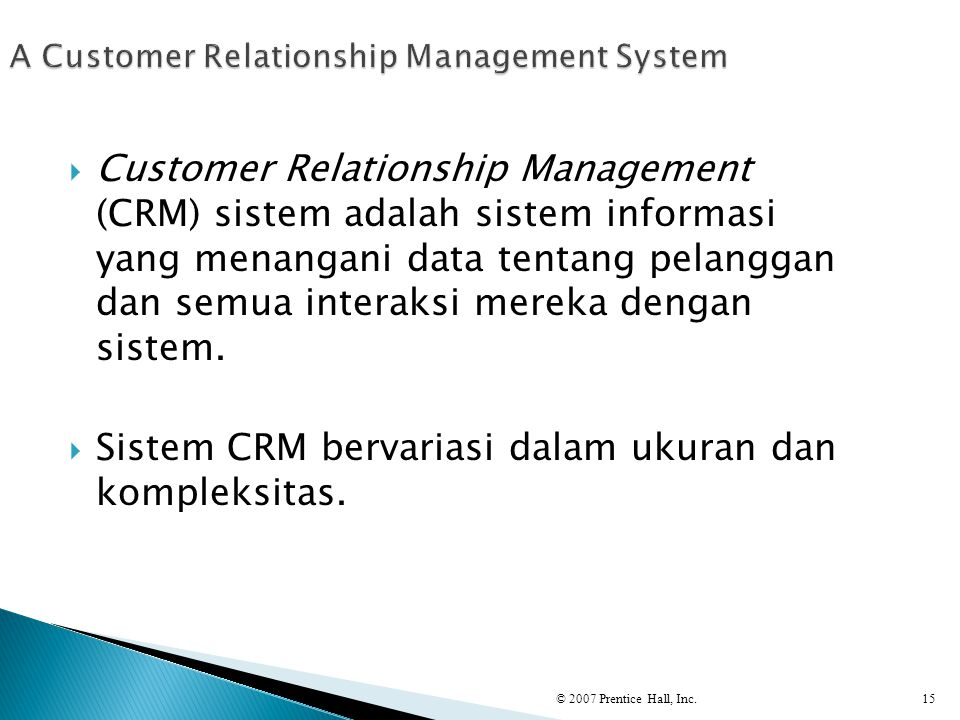 A Customer Relationship Management System
