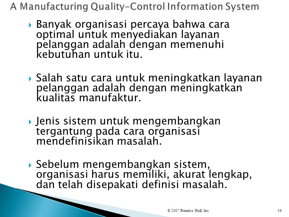A Manufacturing Quality-Control Information System