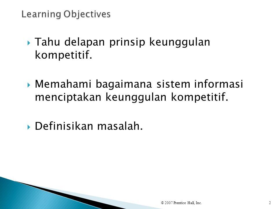 Tahu delapan prinsip keunggulan kompetitif.
