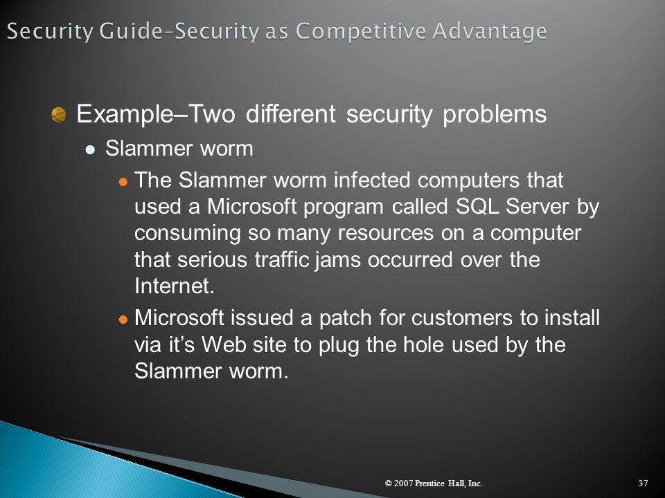 Security Guide–Security as Competitive Advantage