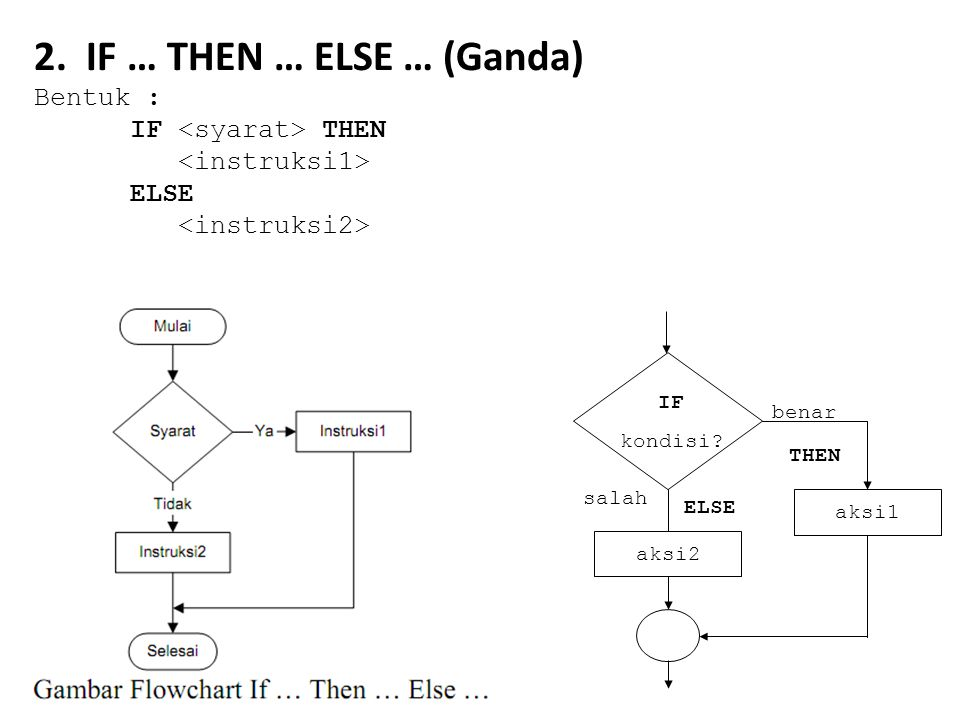 2. IF … THEN … ELSE … (Ganda)