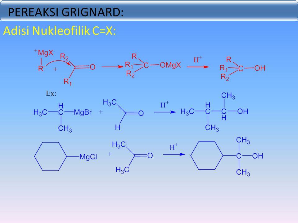 PEREAKSI GRIGNARD: Adisi Nukleofilik C=X: