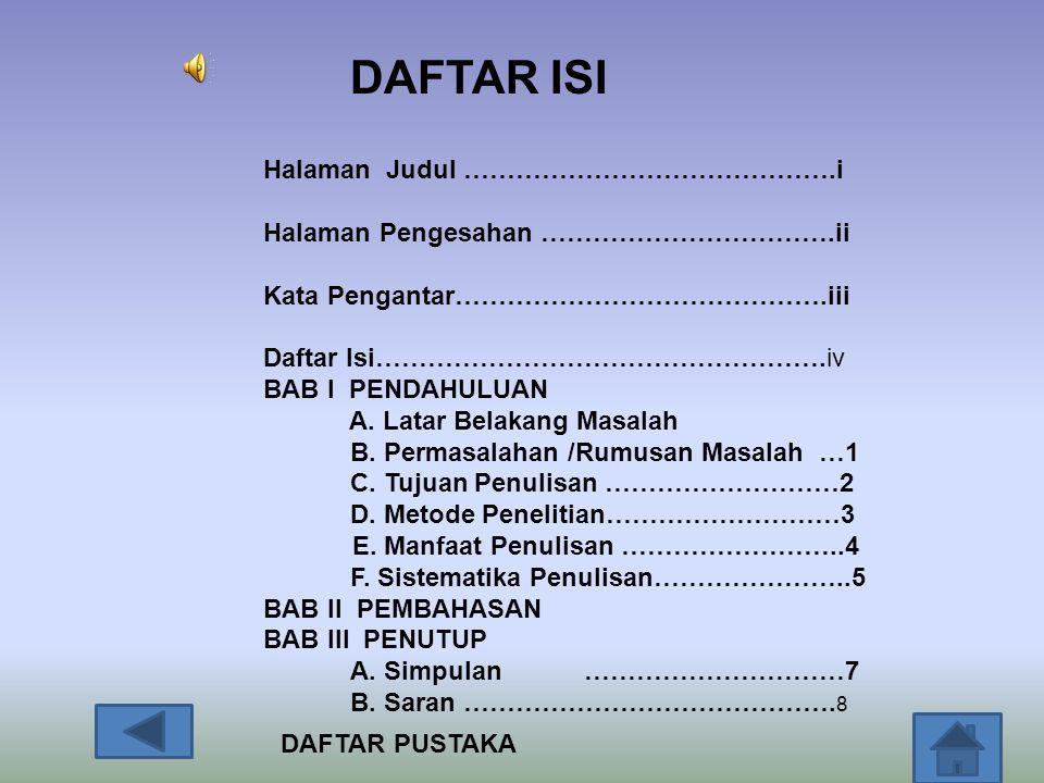 DAFTAR ISI Halaman Judul …………………………………….i