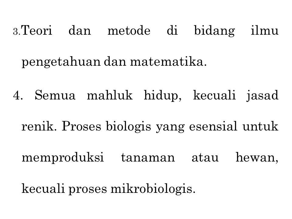 3.Teori dan metode di bidang ilmu pengetahuan dan matematika.