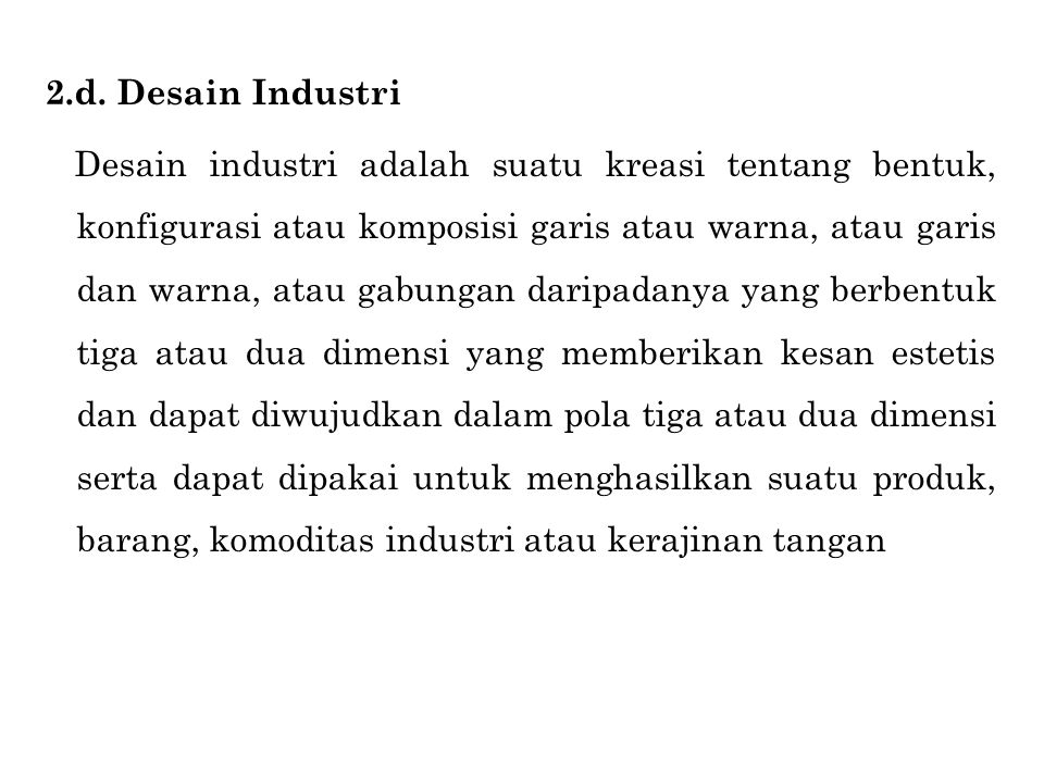 2.d. Desain Industri