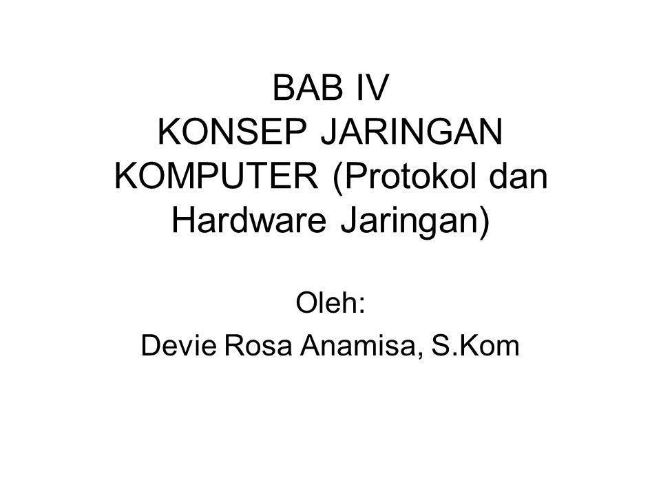 BAB IV KONSEP JARINGAN KOMPUTER (Protokol dan Hardware Jaringan)