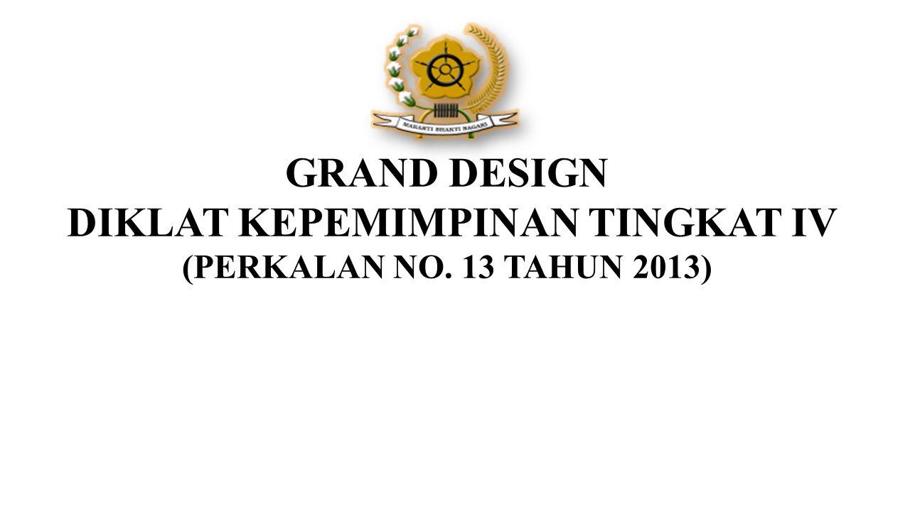 GRAND DESIGN DIKLAT KEPEMIMPINAN TINGKAT IV (PERKALAN NO