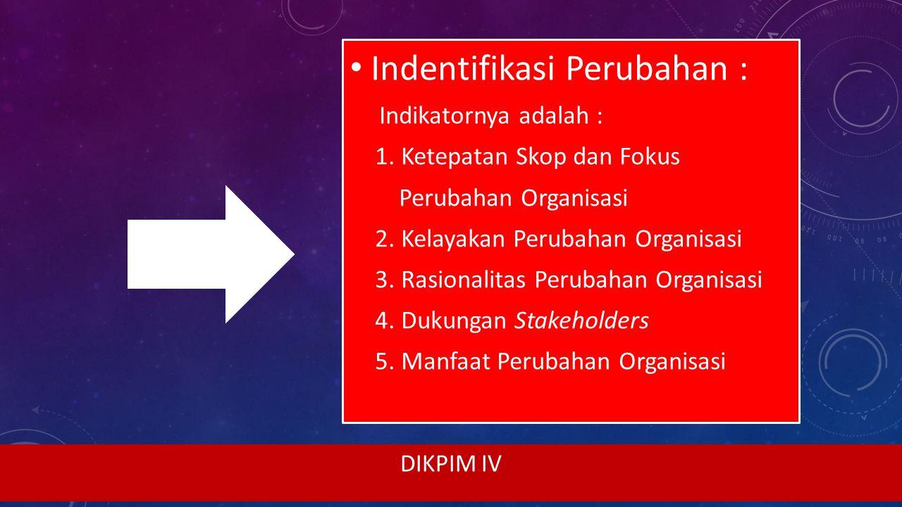 Indentifikasi Perubahan :